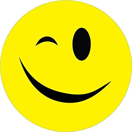 Amazon.com : Winking Smiley Face Vinyl Sticker : Everything Else