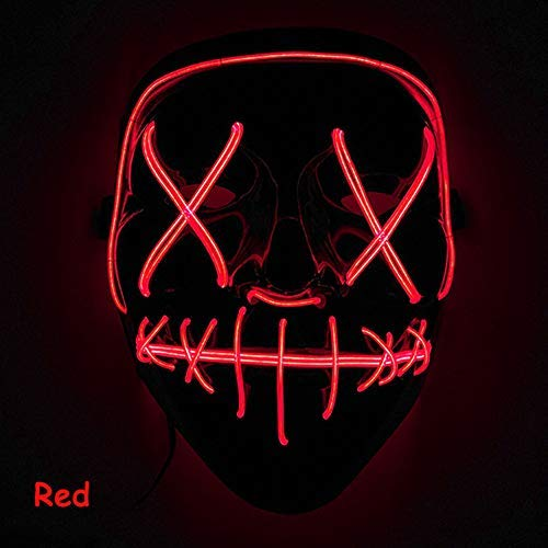 Amazon price history for Coromose LED Mask LED Light Up Mask for Festival Cosplay Costume red