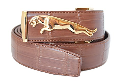 eurodesign-jaguar-genuine-leather-adjustable-belt-for-men-brown