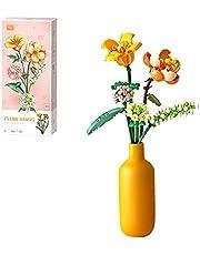 LICI Bouwsteen boeket bouwset, creatieve mini-bloem bouwstenen, bouwset, 456 klembouwstenen, bloemen, compatibel met Lego 10280 Creator Expert (geen vaas)