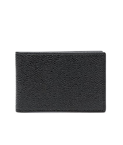 wiberlux-thom-browne-mens-pebbled-real-leather-striped-interior-wallet-one-size-black