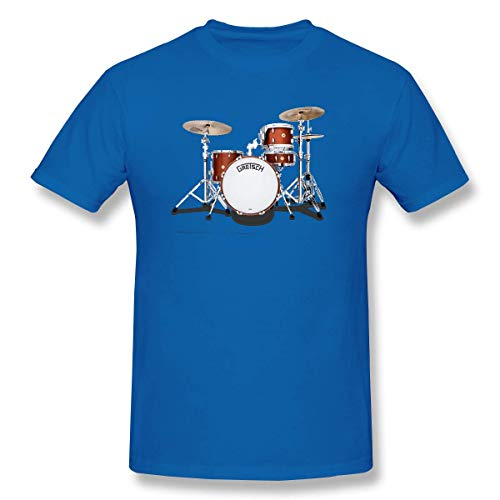 YXQMY Mens Gretsch-Drums-Gretsch-Catalina-Club-Jazz-percussio-Drumset Fashion T Shirt Blue with Short Sleeve