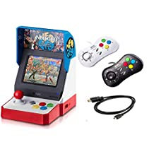 Game Monkey Neogeo Mini Pro Player Pack USA Version - Includes 2 Game Pads (1 Black & 1 White) and HDMI Cable - Neo Geo Pocket