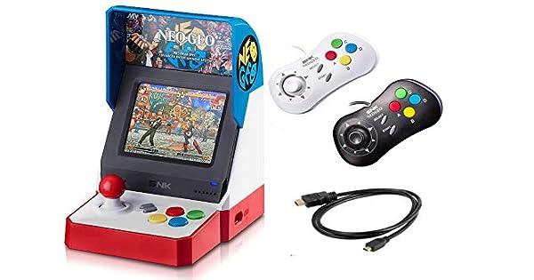 Amazon com: Neogeo Mini Pro Player Pack USA Version - Includes 2
