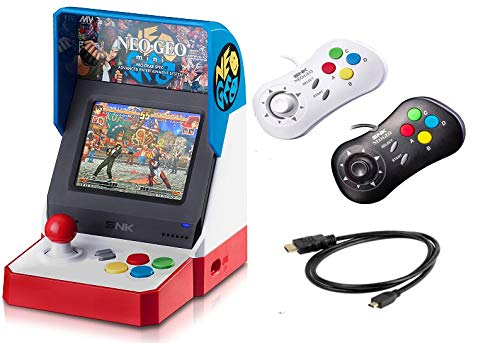 Neogeo Mini Pro Player Pack USA Version - Includes 2 Game Pads (1 Black & 1 White) and HDMI Cable - Neo Geo Pocket (Neo Geo Portable)
