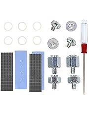 QTEATAK 2Pcs PCIe NVMe M.2 2280 SSD Heatsinks Cooler & Mounting Screws Screwdriver Kit