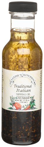 Lizzie's Kitchen Traditional Italian Dipping Oil, 12-Ounce P.E.T. Bottle (Pack of 2)