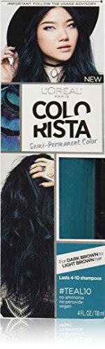L'Oral Paris Colorista Semi-Permanent Hair Color For Brunettes, Teal