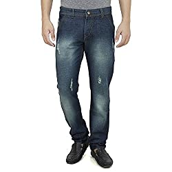 Slim fit jeans for men, ripped jeans, embroidered, Size 36