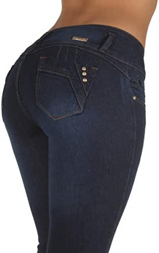 Style N491SK– Colombian Design, Butt Lift, Levanta Cola, Stretch Skinny Jeans