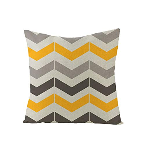 GTQC 2 Pack, Modern Minimalist Style ins Home Soft Linen Linen Pillowcase Custom Geometric Abstract Sofa Cushion Set Waist Pillow Square Pillowcase JYM025-2 4545cm(Without Pillow)