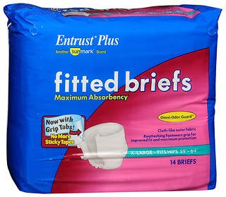 [Entrust Plus Fitted Briefs Maximum Absorbency Extra Large - 56 ct] (Fitted Maximum Protection Briefs)