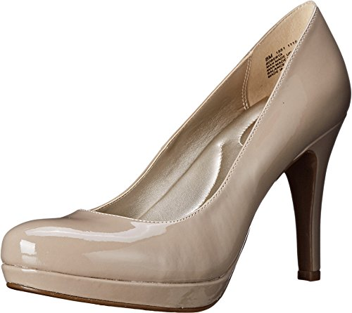 Bandolino Women's Berta Platform Pump, Light Natural, 9.5 M US (Heels Bandolino Leather)