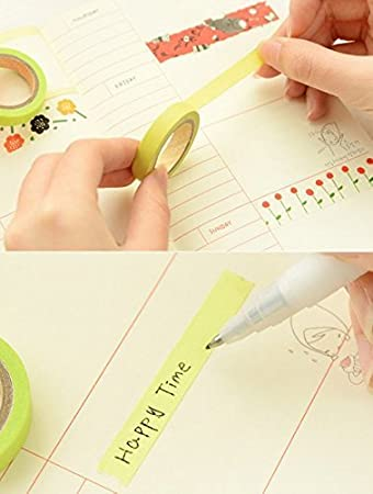 Multicolore-1 westeng Tape Pack of 10/Candy Colors Rainbow Style Stationery Adhesive Tape DIY Accessory Moyenne