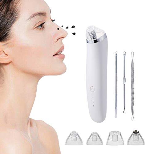 Blackhead Remover Vacuum,Electric Acne Comedone Extractor Kit for Women & Men(White)