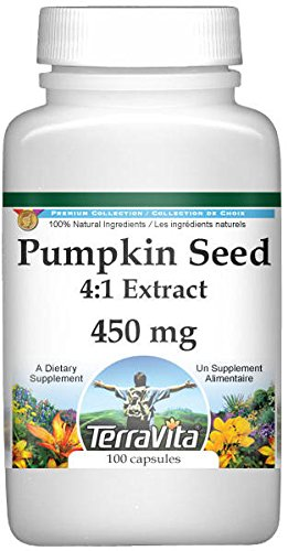 Extra Strength Pumpkin Seed 4:1 Extract - 450 mg (100 Capsules, ZIN: 511230) by TerraVita