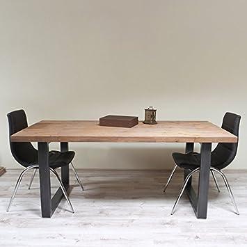 Table de salle à manger - Style industriel - Pieds en forme de U ...