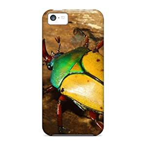 Hot Snap-on Animals Colorful Beetle Hard Cover Case/ Protective Case For Iphone 5c