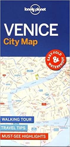 Lonely Planet Venice City Map Travel Guide Lonely Planet - Venice city map