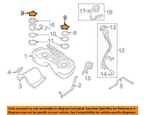 Nissan OEM 11-14 Juke 1.6L-L4 Fuel System-Fuel Sender Unit Lock Plate 173431KM1A -