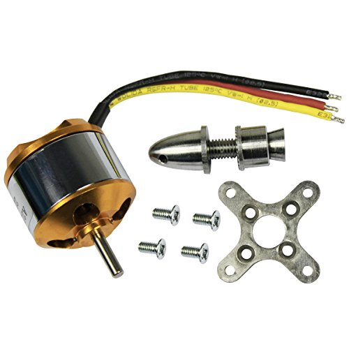 abcGoodefg RC Accessories Kit, A2212/6T 2200KV, Outrunner Brushless Motor W/Mount for RC Glider Quadcopter Helicopter Aircraft Copter (Helicopter Brushless Motor)