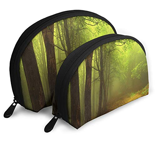 Makeup Bag Lost In The Forest Handy Shell Beauty Bags Set Case For Women,Girls 2 -