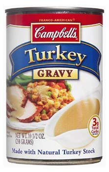 Campbell's, Turkey Gravy with Natural Turkey Stock, 10.5oz Can (Pack of 6) Campbells Turkey
