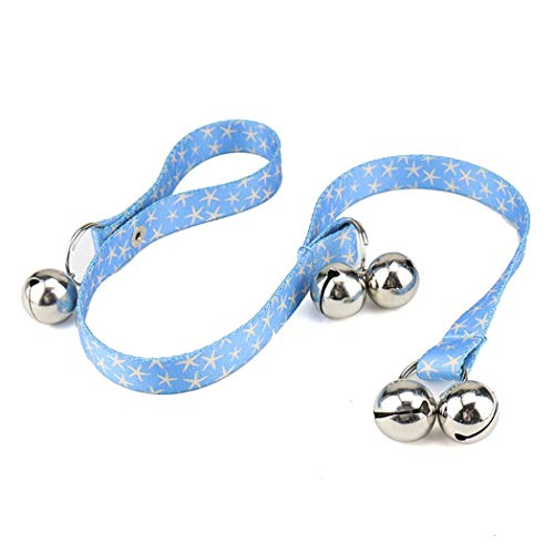 - HONGLIAN Pet Doorbell Lanyard Dog Trainer Bell Heat Transfer Flower (Color : Blue)