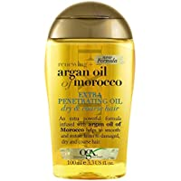 OGX Hair Oil, Renewing+ Argan Oil Of Morocco, Extra Penetrating Oil, Dry and Coarse Hair Types, 100 ml