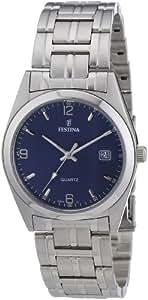 Festina F8825/2 - Reloj analógico de cuarzo para hombre con correa de acero inoxidable, color plateado