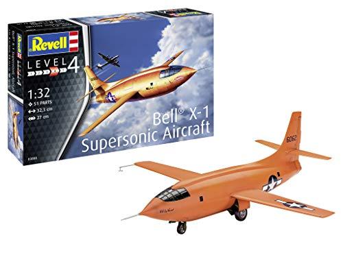 Revell GmbH Revell 03888 3888 1:32 Bell X-1 (1st Supersonic) Plastic Model Kit Multicolour, 1/32 (Models Ships Authentic Bell)