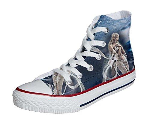 Converse Customized Adulte - chaussures coutume (produit artisanal) fée spatiale