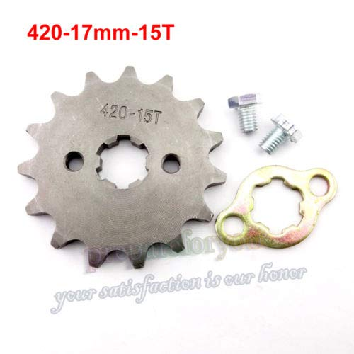 15 Front Sprocket Tooth Chinese Pit Bike Engine 50 90 110 cc Dirt ATV ()