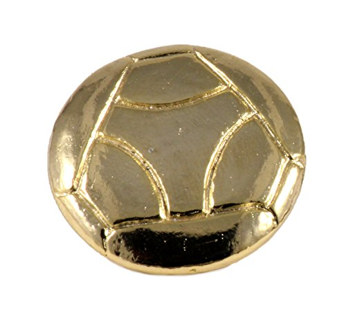 Creative Pewter Designs Soccer Ball 22k Gold Plated Lapel Pin, Brooch, Jewelry, AG502