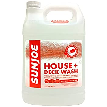 Sun Joe SPX-HDC1G House and Deck All-Purpose Pressure Washer Rated Concentrated Cleaner, 1-Gallon