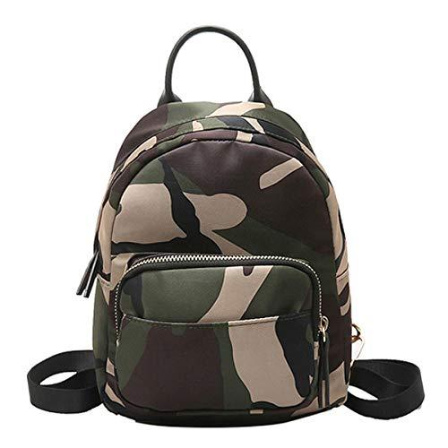 - Women Girls Casual Mini Backpack Nylon Backpack Satchel Bags Top Handle Shoulder Bag Camouflage