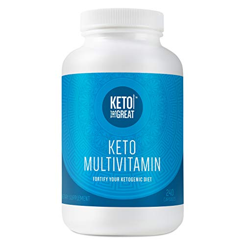 Keto the GreatTM - Keto Multivitamin for Men and Women - Daily Vitamin and Mineral Supplement Pills for Ketogenic Diet (240 Capsules)