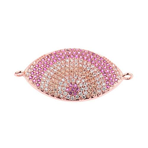 Mikash 18K Colorful CZ Zircon Evil Eye Beads Fashion Bracelet Necklace Charm Pendant | Model BRCLT - 7893 ()