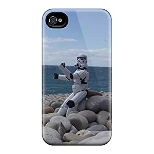 Scratch Resistant Cell-phone Hard Covers For Iphone 4/4s With Provide Private Custom Nice Stormtrooper Skin ErleneRobinson