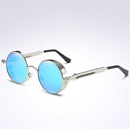 VVIIYJ Gafas de sol con montura redonda Steampunk gafas de ...