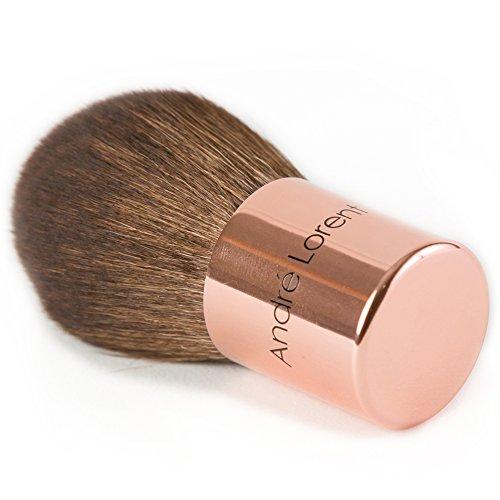 Best Foundation Brush - Premium, Vegan Fibers. Rose Gold Short Handle Design By Andre Lorent