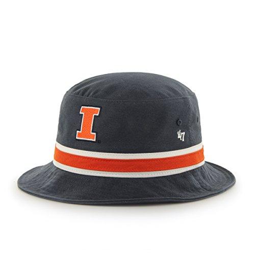 Illinois Fighting Illini Navy Striped Bucket Hat - NCAA ...