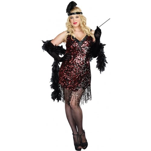 Dreamgirl Women's Plus-Size Dames Like Us Costume, Black, XXX-Large/XXXX-Large ()