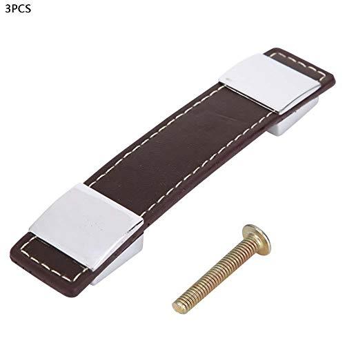 Door Handle Pulls, Leather Pull Cabinet Drawer Cupboard Wardrobe Furniture Handles Knobs(192mm)