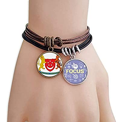 master DIY Singapore Asia National Emblem Bracelet Rope Wristband Force Handcrafted Jewelry Estimated Price -