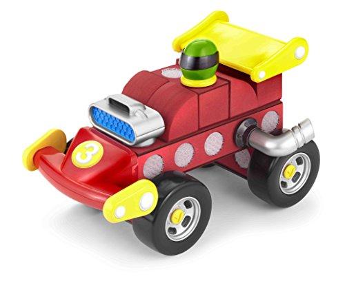 Velcro Kids, Velcro Brand Blocks | Building Blocks, Lightweight Foam | 18 Piece, Compatible with Other Cars/Trucks | Formula Race Car, Age 3+