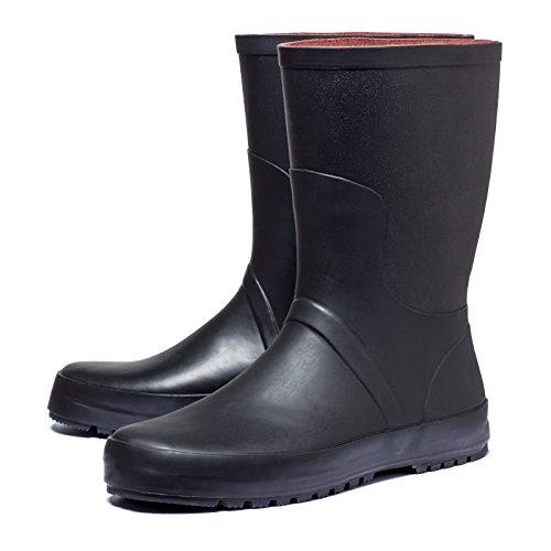 Regenstiefel Gummistiefel Stiefel Rain Boot Gartenstiefel Wellingtons für Outdoor Garten Freizeit Festival Arbeit SCHWARZ Unisex Damen Herren Gr.41-44
