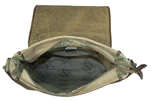 Sunsa Damen Herren Vintage Tasche Messengertasche Umhängetasche Schultertasche aus Canvas