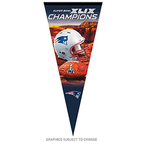 2014 NFL Super Bowl 49 XLIX Champions New England Patriots Large Pennant (Patriots Xlix Champions compare prices)