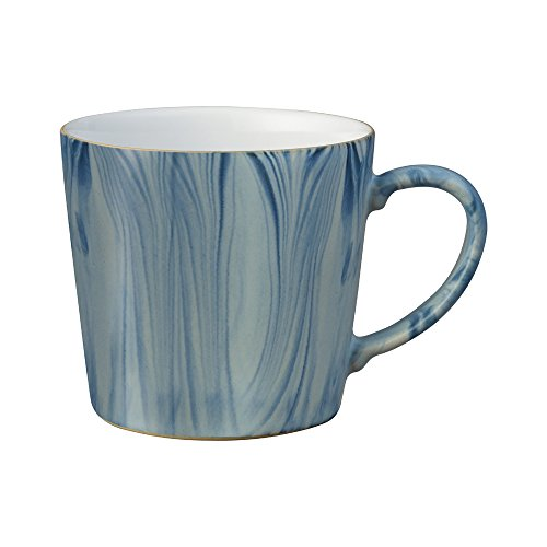 Denby Hand Decorated Blue Marbled Mug, Ceramic, 9.5 x 9 x 13 cm